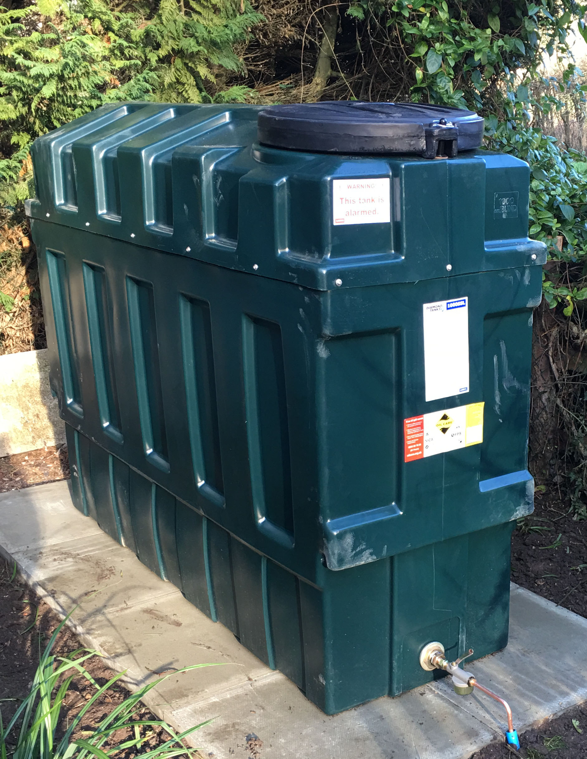 Old Oil Tank removed and New Oil Tank Installed by Suffolk Oil Solutions