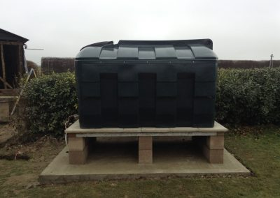 Oil tank installation for Aga