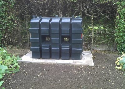 Harlequin bunded oil tank installation in Sudbury