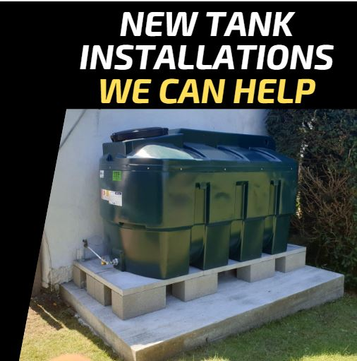 Where we can help in installing a new oil tank